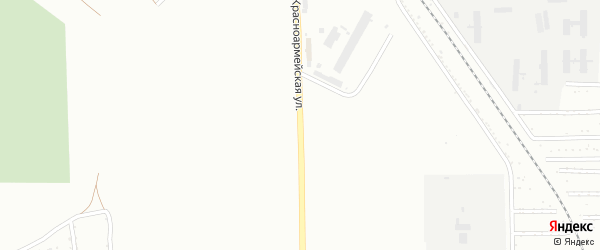 Красноармейская улица на карте Уфы с номерами домов