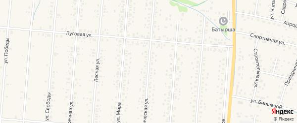 Коммунистическая улица на карте села Старобалтачево с номерами домов