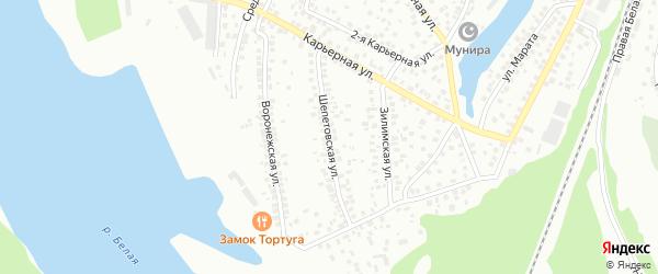 Шепетовская улица на карте Уфы с номерами домов