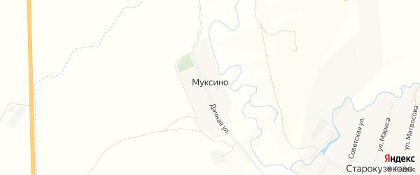 Карта деревни Муксино в Башкортостане с улицами и номерами домов