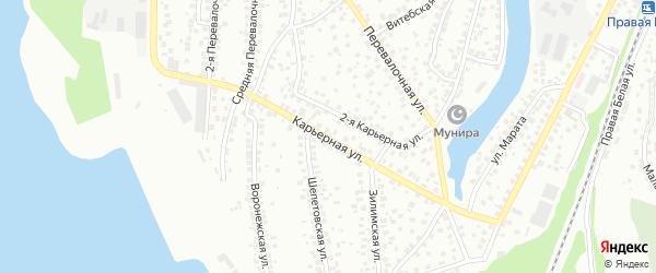 Карьерная улица на карте Уфы с номерами домов