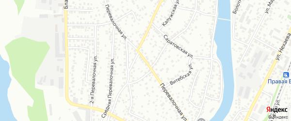 Перевалочная улица на карте Уфы с номерами домов