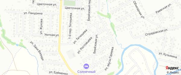 Улица Ростовцева на карте Стерлитамака с номерами домов