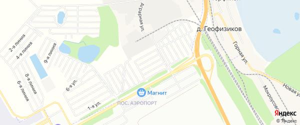 СНТ Сирень на карте Уфимского района с номерами домов