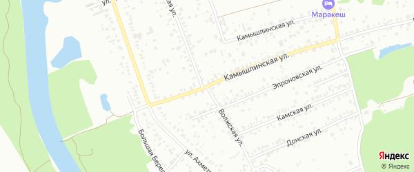 Волжская улица на карте Уфы с номерами домов