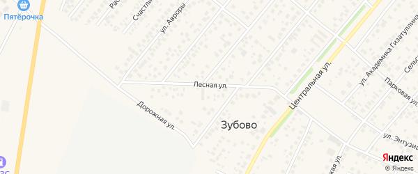 Лесная улица на карте села Зубово с номерами домов