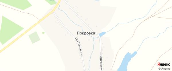 Заречная улица на карте села Покровки с номерами домов