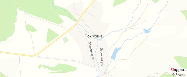 Карта села Покровки в Башкортостане с улицами и номерами домов