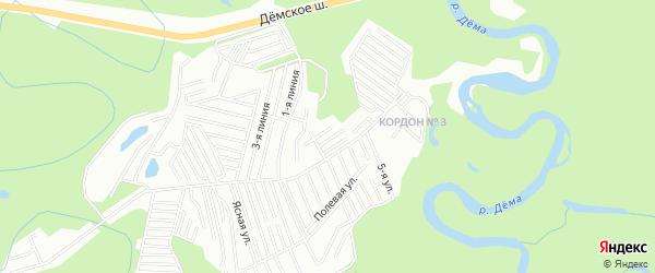 СНТ Дубки на карте Уфимского района с номерами домов