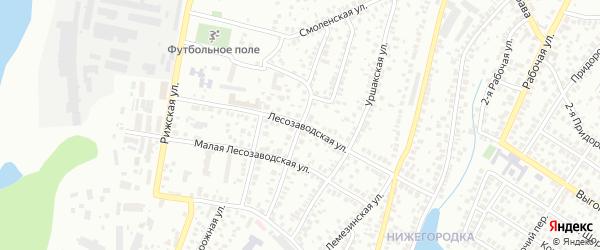 Малая Фанерная улица на карте Уфы с номерами домов