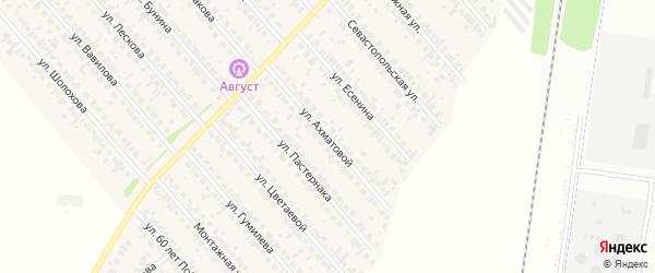Улица Ахматовой на карте села Загородного с номерами домов