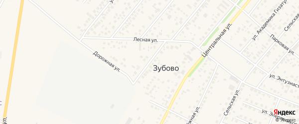 Юбилейный переулок на карте села Зубово с номерами домов