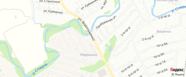 Улица Водолаженко на карте Стерлитамака с номерами домов