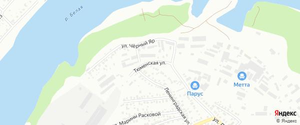 Тюменская улица на карте Уфы с номерами домов