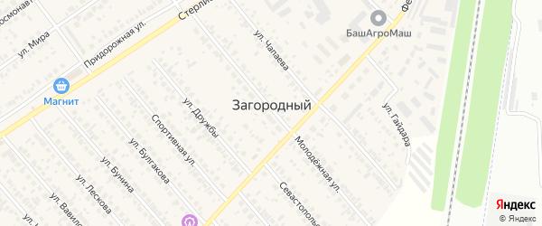 Улица Трошина на карте села Загородного с номерами домов