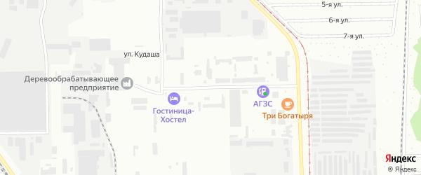 Улица Кудаша на карте Салавата с номерами домов