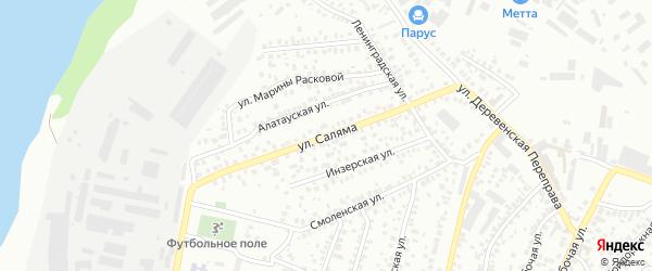 Улица Саляма на карте Уфы с номерами домов