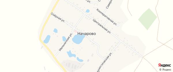 Мельничная улица на карте деревни Начарово с номерами домов