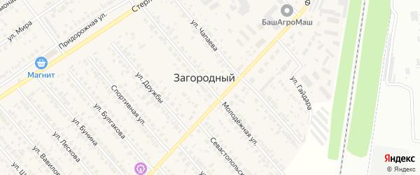 Молодёжная улица на карте села Загородного с номерами домов