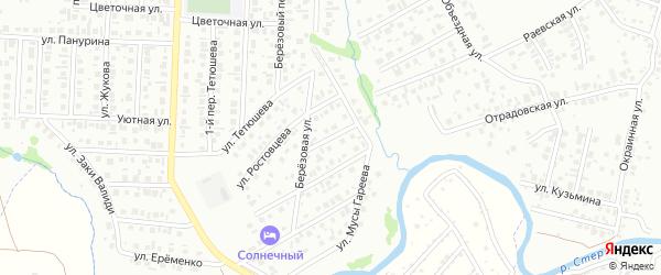 Солнечная улица на карте Стерлитамака с номерами домов