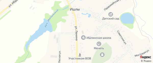 Улица Ленина на карте села Ишлы с номерами домов