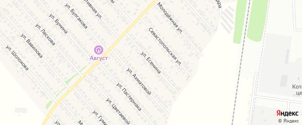 Улица Есенина на карте села Загородного с номерами домов