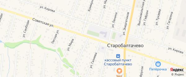 Советская улица на карте села Старобалтачево с номерами домов