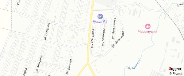 Улица Утягулова на карте Мелеуза с номерами домов