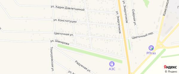Цветочная улица на карте села Старобалтачево с номерами домов