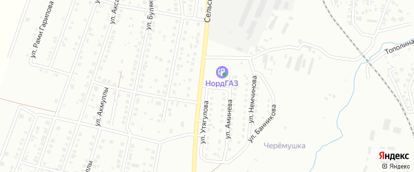 Улица Немчинова на карте Мелеуза с номерами домов