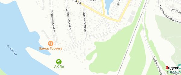 Воронежская улица на карте Уфы с номерами домов