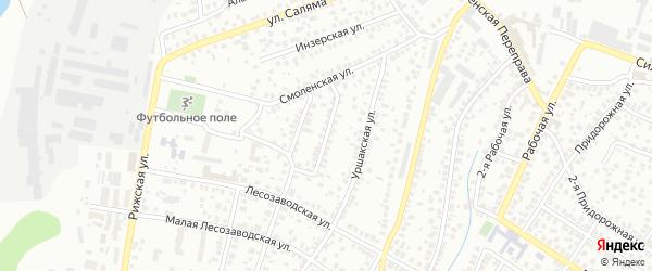 Байкаринская улица на карте Уфы с номерами домов