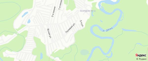 СНТ Утренняя заря на карте Уфы с номерами домов