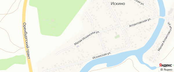 Малая Искинская улица на карте деревни Искино с номерами домов