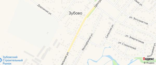 Центральная улица на карте села Зубово с номерами домов