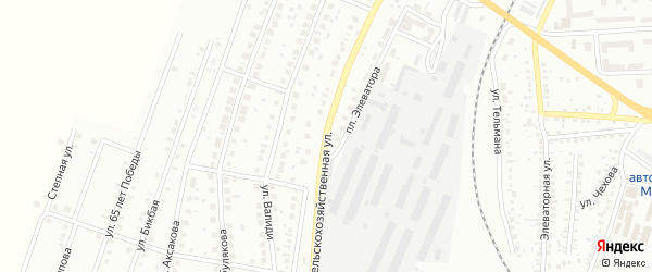 Сельскохозяйственная улица на карте Мелеуза с номерами домов