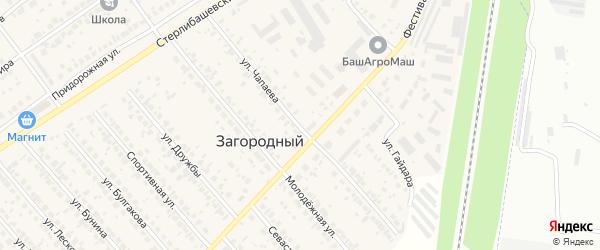 Улица Чапаева на карте села Загородного с номерами домов