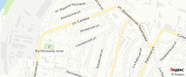 Смоленская улица на карте Уфы с номерами домов