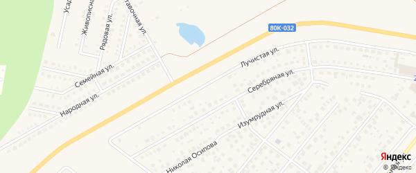 Лучистая улица на карте села Зубово с номерами домов