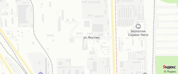 Улица Якутова на карте Салавата с номерами домов