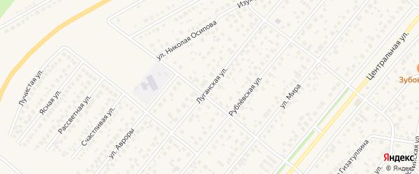 Луганская улица на карте села Зубово с номерами домов