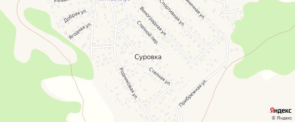 Улица Тихая Слобода на карте деревни Суровки с номерами домов