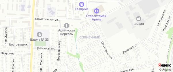 Утренняя улица на карте Стерлитамака с номерами домов