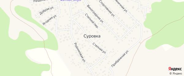 Прибрежная улица на карте деревни Суровки с номерами домов