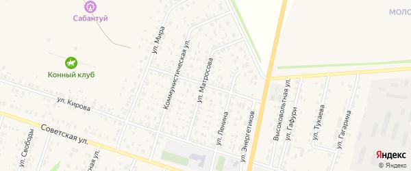 Улица Лермонтова на карте села Старобалтачево с номерами домов