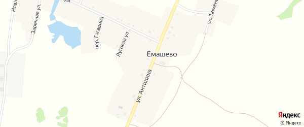 Улица Антипина на карте села Емашево с номерами домов