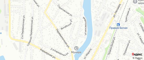 Белорецкая улица на карте Уфы с номерами домов