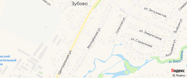 Молодежная улица на карте села Зубово с номерами домов