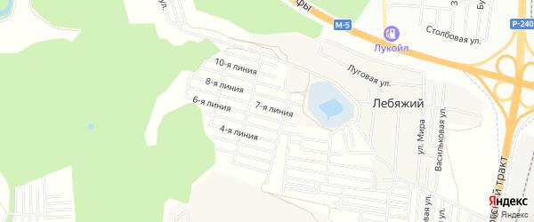 СНТ Вита на карте Уфимского района с номерами домов