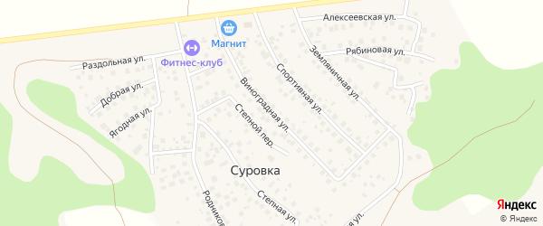 Виноградная улица на карте деревни Суровки с номерами домов